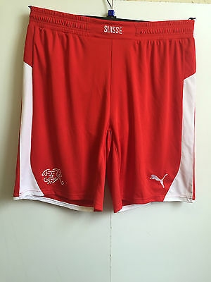 Mens Puma Switzerland Home Shorts - Size Large - Red - BNWT