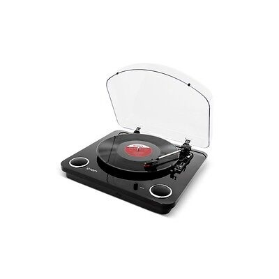 Ion Max LP Black USB Turntable Record Digital Conversion with Built-in Speakers