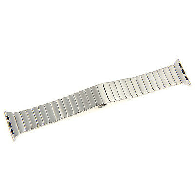 Silver Stainless Steel Watch Band Bracelet Replacement Link fr 42mm Apple iWatch