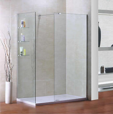 Bathroom Wet Room Shower Glass Screen Panel 8Mm Thick