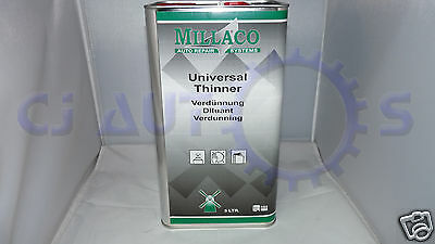 Millaco Universal Thinners 5L Spray Paint Basecoat Lacquer Primer Car Body Shop