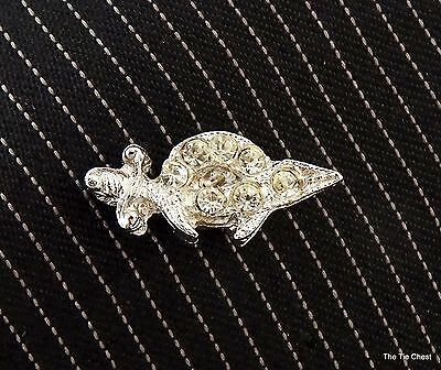 Shriners Lapel Pin Silver Tone with Rhinestones