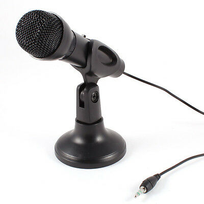 Omnidirectional Laptop PC Computer 3.5mm Network Stand Mini Microphone S*