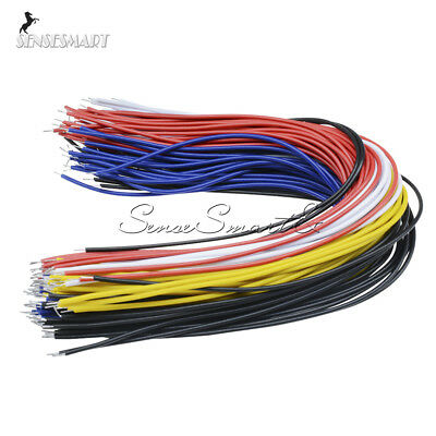 100PCS 20CM Colors Flexible Two Ends Tin-plated Breadboard Jumper Cable Wires