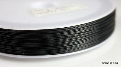 ST011 Black Tiger Tail Stringing Beading Wire - 59g x 1 reel (100 meters) 0.45mm