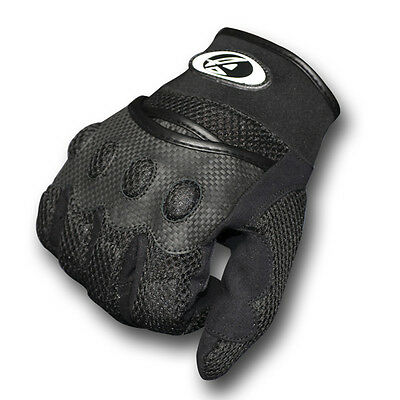 New AGVsport Aeromesh Motorcycle Gloves Summer Black Clarino synthetic palm