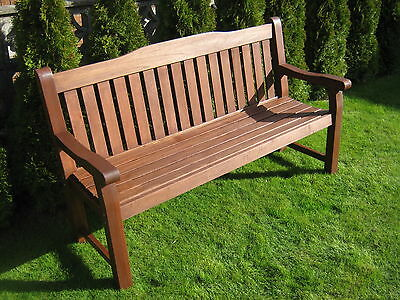 Solid Hardwood 3 seater garden bench -  SPECIAL OFFER