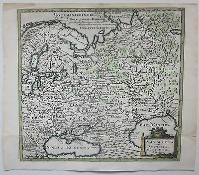 1697 SARMATIA SCYTHIA Philipp Cluver acquaforte Офорт Russia Россия Москва