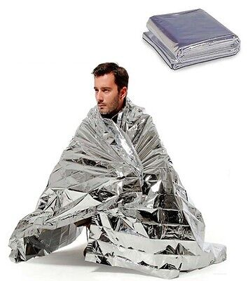 Emergency Thermal Blanket First Aid Foil Waterproof Rescue Survival Baby Silver