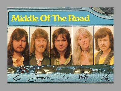MIDDLE OF THE ROAD | Popgruppe | Druck-Autogramm auf Ariola-Starkarte