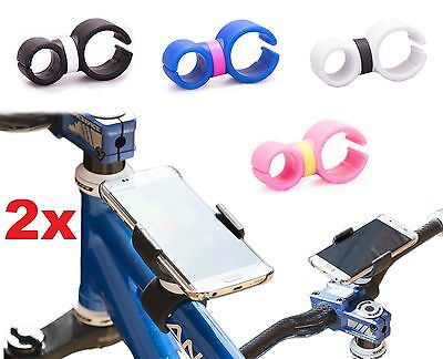 Rotating Bicycle Bike Handlebar Stem Clip Mount Holder Stand for Mobile Phone