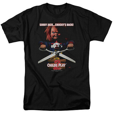 Chucky Child's Play 2 Sorry Jack Chucky's Back Licensed Tee Shirt Adult S-3XL