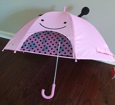 NWT Skip Hop Zoobrella Little Kid/Kids/Children Lady Bug Umbrella in Red/Pink