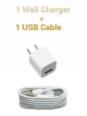 OEM Wall Charger +  Lightning USB 1m Cable For Apple iPhone 5/5c/5s/6/6 Plus