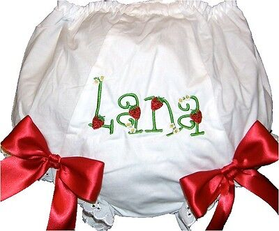Personalized Loveletters & Strawberries Baby Girl Diaper Cover Bloomer Free Ship