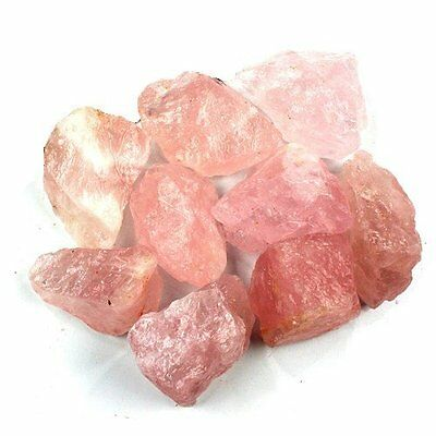 3lb Bulk of Natural Rough Pink Rose Quartz Crystals from Brazil - Wholesale Lot