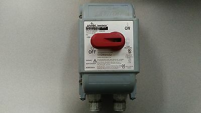 Leviton Power Switch DS30-FAX 30Amp 600V AC Max. R3, 4X, 12K IP67 USED