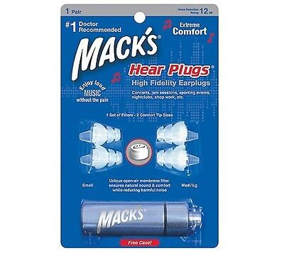 Musician Earplug Music Ear Concert Jamming Mack's HEAR PLUGS High Fidelity #16
