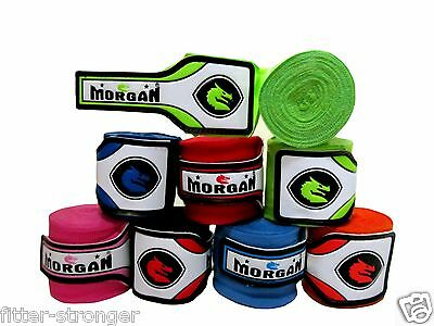 Morgan Boxing Handwraps 4M New Pair Wrist Guard Hand Wraps Straps Aiba Mma Ufc