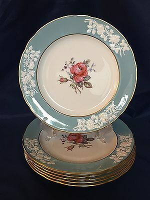 Set of 6 Spode OLD COLONY ROSE Y6447 Dinner Plates -  England Bone China