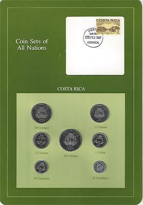 Coin Sets of All Nations, Costa Rica, 7 Coin Set