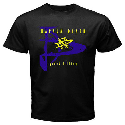 New Napalm Death Greed Killing Metal Rock Band Men's Black T-Shirt Size S to 3XL