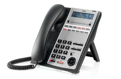 NEC IP4WW-12TXH-B-TEL Black and Silver Telephone - A Grade