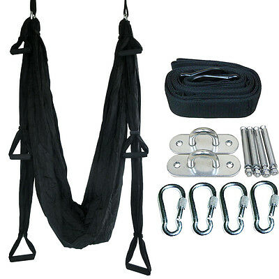 Yoga Swing Sling Hammock Pilates Aerial Anti-Gravity Inversion Complete Set Hot