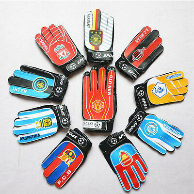 Adults & Children Soccer Football Training Goalkeeper Sports Gloves PU Leather