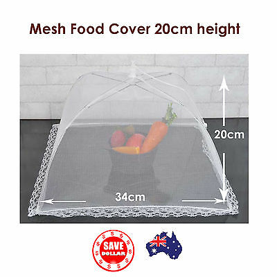 34cm Collapsible Mesh Food Cover Square Fly Wasp Protection Net BBQ Kitchen