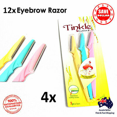 6p Facial Eyebrow Razor Trimmer Shaper Shaver Blade Knife Hair Remover Tinkle