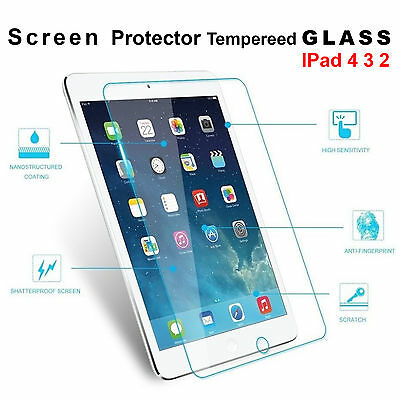 Scratch Resist Tempered Glass Screen Protector Film Guard For Apple iPad 4 3 2