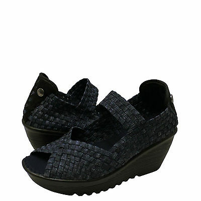 29be1cb13177 Women s Shoes Bernie Mev. Halle Woven Open Toe Casual Wedges Jeans  New