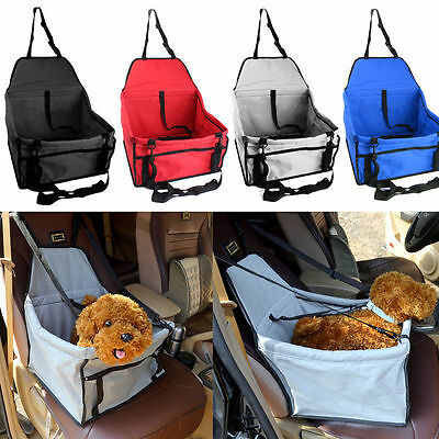 New Folding Dog Travel Booster Bag Puppy Pet Car Seat Carrier Safety Belt Cover