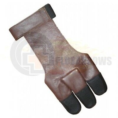 Legacy Leather Glove for Finger Shooting Archery Compound, Recurve & Long Bows