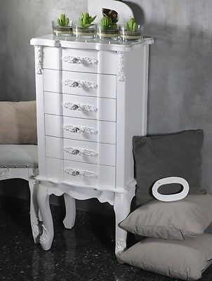 Chest Of Drawers Cabinet Chiffonier Bedside Table Antique French Style White