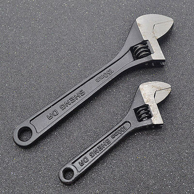"""1 Pc 4"""" 6"""" Wrenches Spanner Adjustable Universal Hand Tool Maintenance Handcraft"""