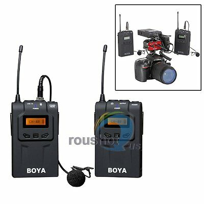 【US】BOYA BY-WM6 UHF Wireless Microphone MIC System For EFP ENG DSLR Camera Video
