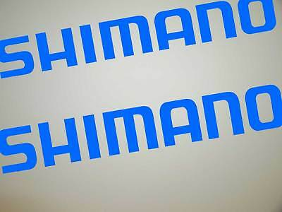 SHIMANO DECALS TWO 300mm 8 year UV Vinyl Fishing Boat Tackle Box Sticker