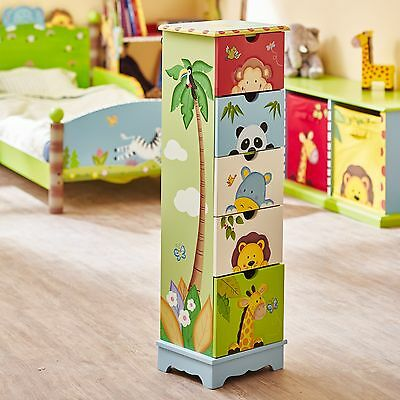 Fantasy Fields by Teamson Sunny Safari 5 Drawer Cabinet