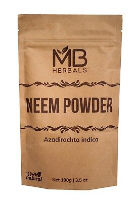 Pure Neem Powder / Azadirachta indica / Limda Powder 50g to 1kg