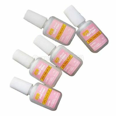 5 x 10g acrylique Ongle Art colle faux imitation Pointe french manucure gel