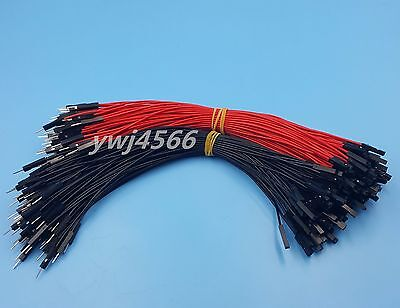 100Pcs 2.54mm 1P-1P Male to Female Dupont Wire 20cm Jumper Red & Black