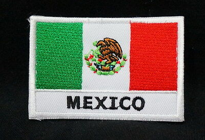 "MEXICO - FLAG EMBLEM PATCH SEW ON EASY TO USE 2""x3"""