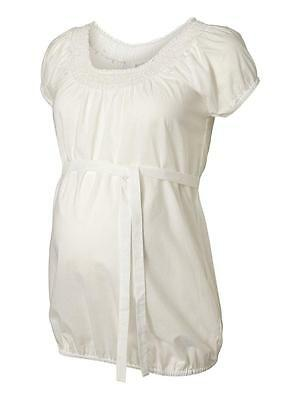 Mamalicious Maternity Tea Shirt Ivory Blouse, Workwear or casual WAS £32.00