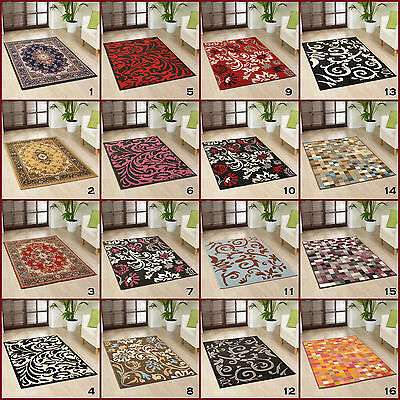 Modern Large High Quailty Alpha Multi Colour Red Black Contemporary Rugs