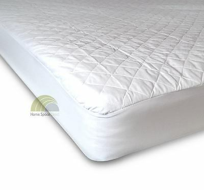 Luxury Quilted Mattress Pillow Protectors, Super King, King, Double, Single Bed
