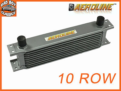 "AeroLine 10 Row Alloy Oil Cooler 1/2"" BSP Fast Road & Race UNIVERSAL"