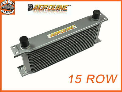 "AeroLine 15 Row Alloy Oil Cooler 1/2"" BSP Fast Road & Race UNIVERSAL"