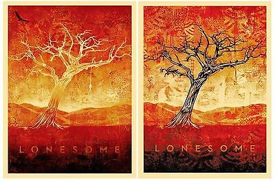Tom Dula White & Black Screen Print Set by Shepard Fairey Signed & Numbered obey
